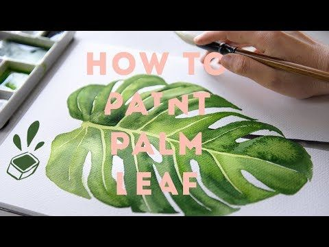 Therapeutic Art Marking Watercolor Tropical Leaf Slow Tutorial