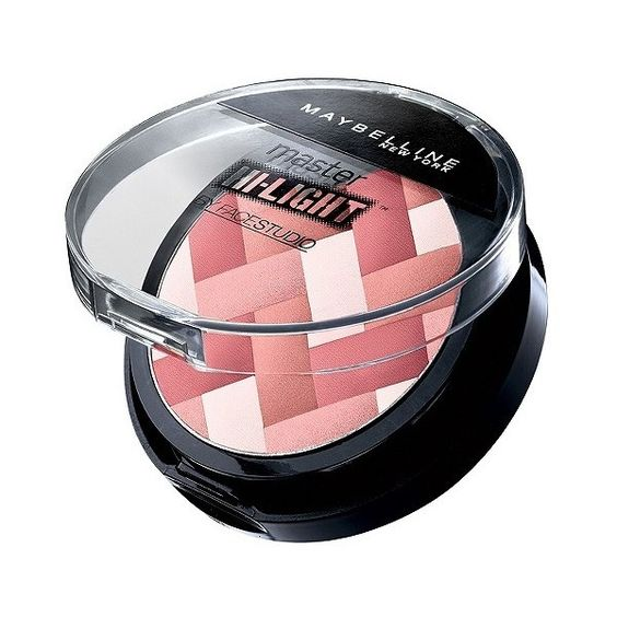 Maybelline Face Studio Master Hi-Light - 020 Pink Rose ($7.99) ❤ liked on Polyvore featuring beauty products, makeup, cheek makeup, blush, pink rose, maybelline and maybelline blush