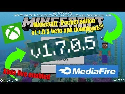 Minecraft Pocket Edition 1 7 0 5 Beta Official Apk Free Download Mcpe 1 7 0 5 Beta Apk Mediafire Minecraft Pocket Edition Pocket Edition Minecraft