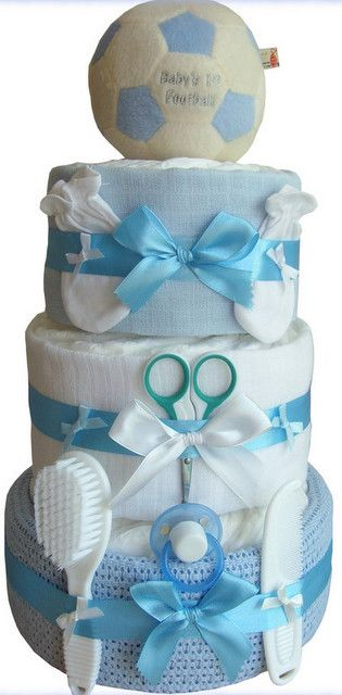 Baby Boy 3 Tier Nappy Cake:
