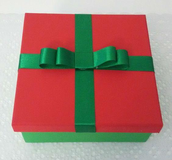 Caixa de presente de Natal média