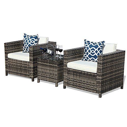 Outdoor Patio Furniture Set 3 Piece Patio Conversation Set 2