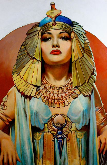 Pin-up Girls of History-Cleopatra  Artist:Henry Clive  Date:1946  Medium:Oil on illustration board