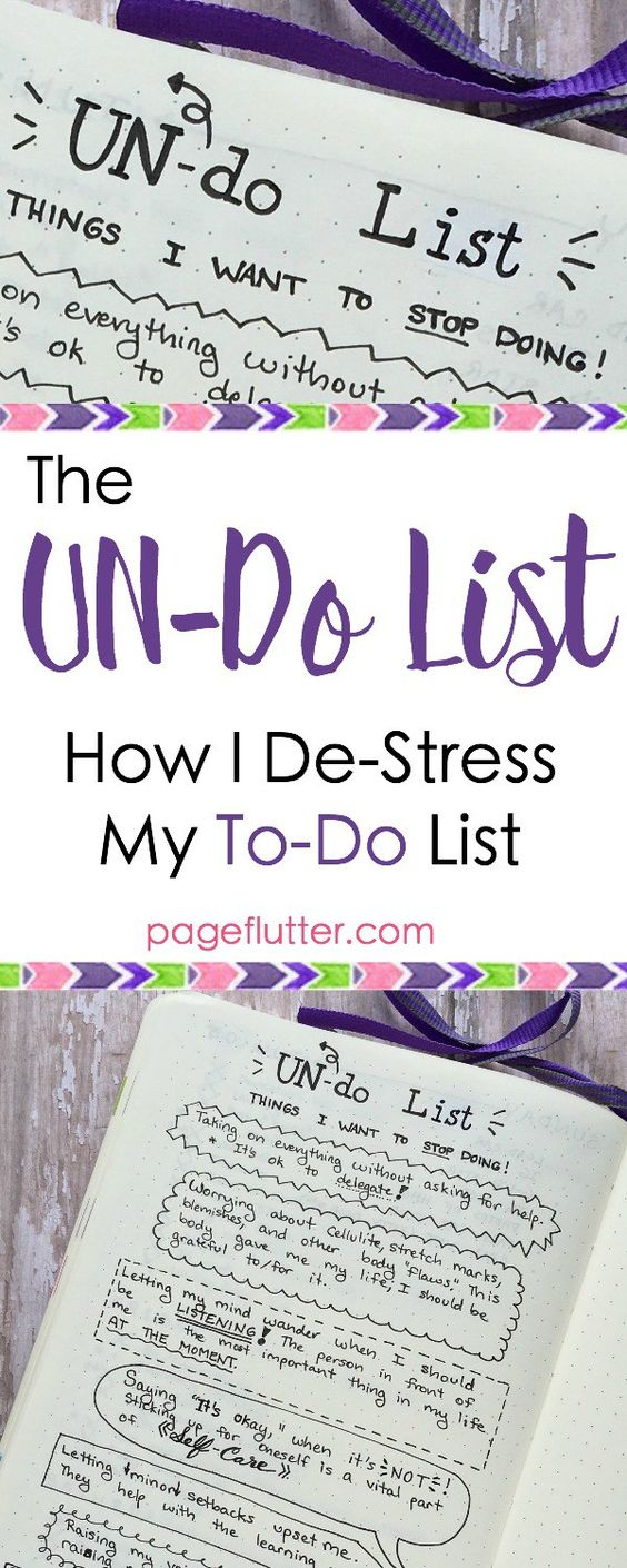 pageflutter.com | My bullet journal list of things to STOP doing. Productivity needs a break, too!: