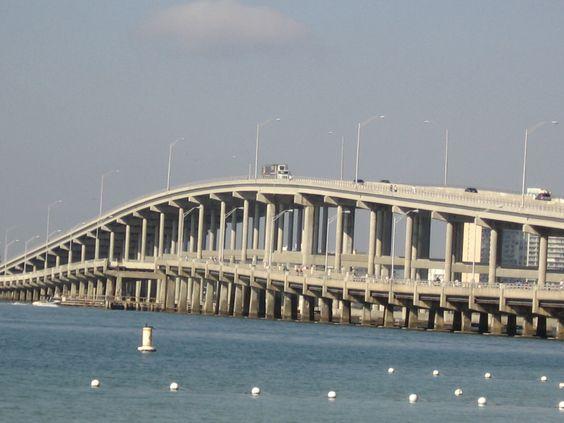 Image result for rickenbacker causeway bridge
