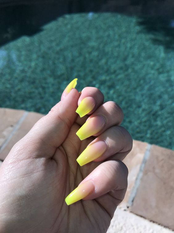 Summer Nails Designs That You Should Try Neon Yellow Nails Yellow Nails Bright Summer Nails