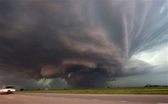 Electrical storm, Tornado Alley, United States  Picture: ALAMY