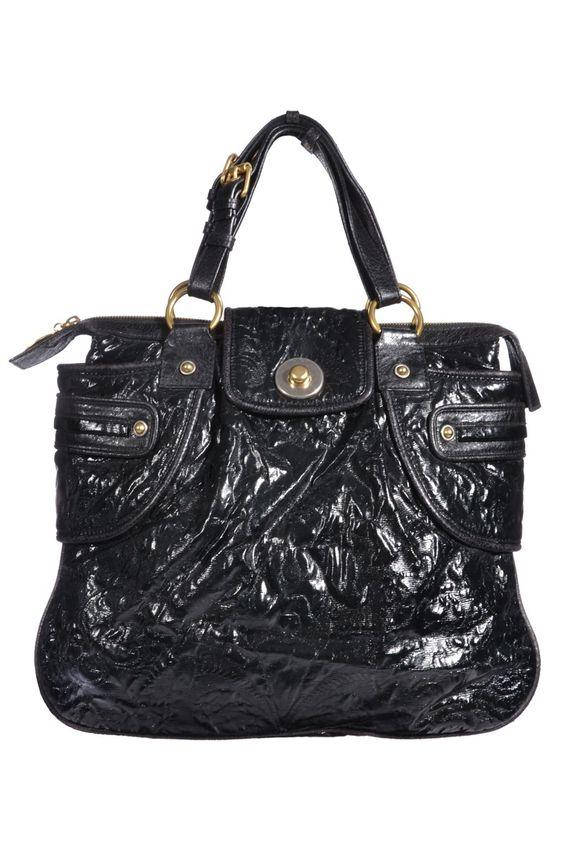#StellaMcCartney   Stylishe #Handtasche aus schwarz glänzendem Leder   Stella McCartney   mymint-shop.com   Ihr #OnlineShop für #Secondhand / Vintage #Designerkleidung & Accessoires bis zu -90% vom Neupreis das ganze Jahr #mymint