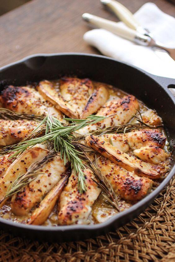 One-pot Honey-Mustard & Rosemary Chicken with Potatoes