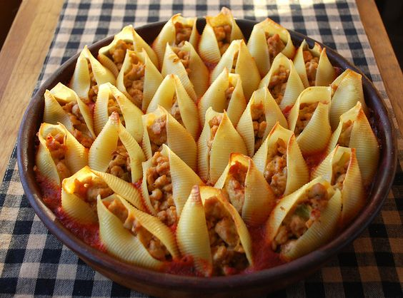 chicken cheese stuff shells