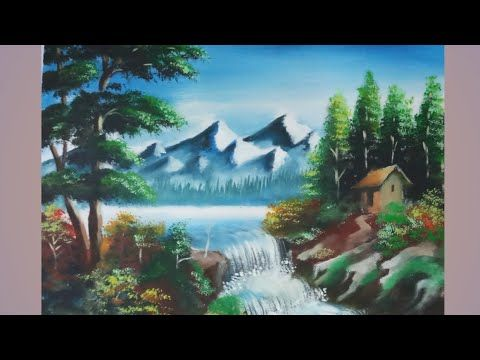 Beautiful Painting Of A Landscape Landscape Paintings Beautiful Paintings Poster Color Painting