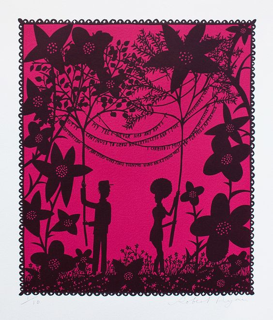 "Artist Rob Ryan ""My Tree Never had any Roots""."
