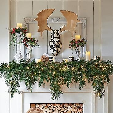 Christmas Garlands We And The Courtyard On Pinterest