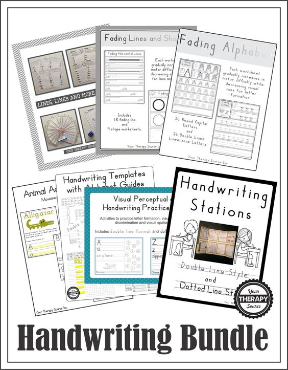 Handwriting bundle includes pre-writing and handwriting practice