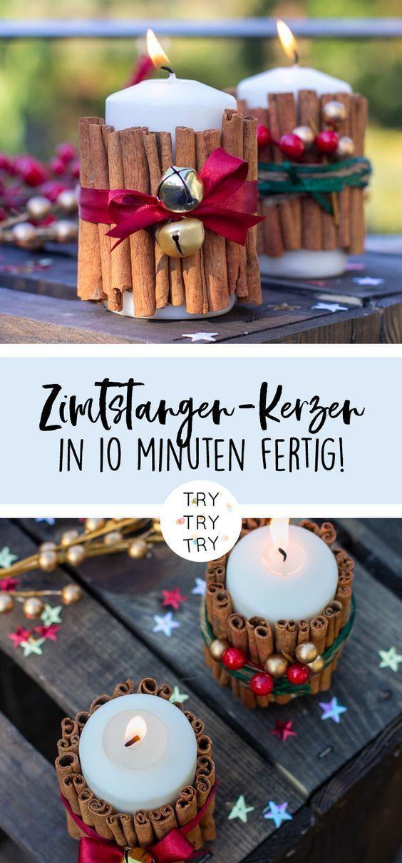 Hubsche Kerzen Fur Weihnachten Weihnachten Dekoration Diy Frohes Weihnachtsfest