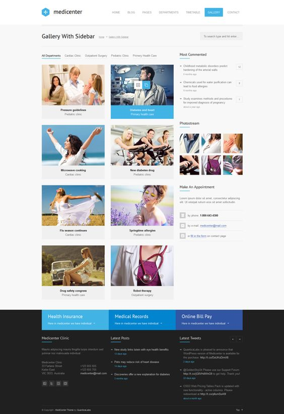MediCenter - Responsive Medical WordPress Theme on Behance
