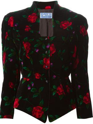 floral velvet jacket