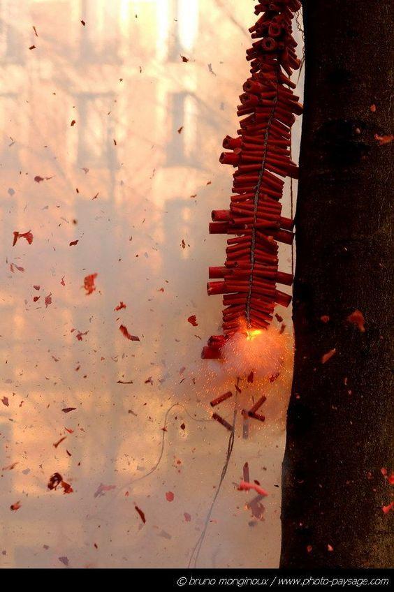 festive fire crackers