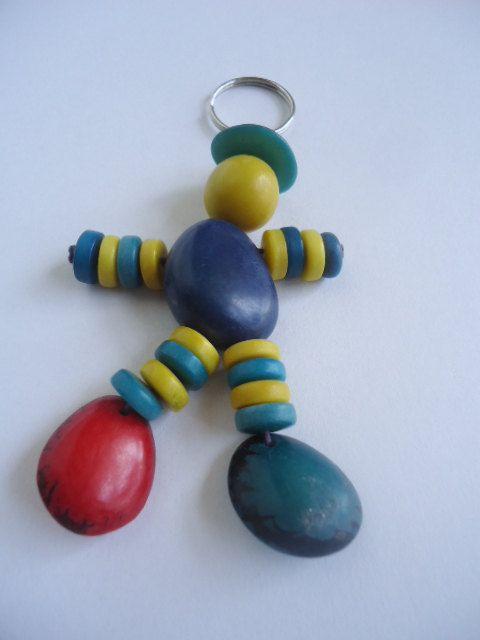 Little Man Tagua Keychain by IngridFonseca on Etsy, $10.00