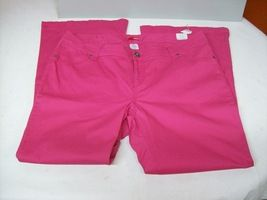 Womens Plus Jeans Pink Bongo Stretch Wide Flare Pants 2 Pocket