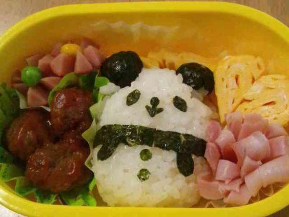 幼稚園キャラ弁☆パンダの画像