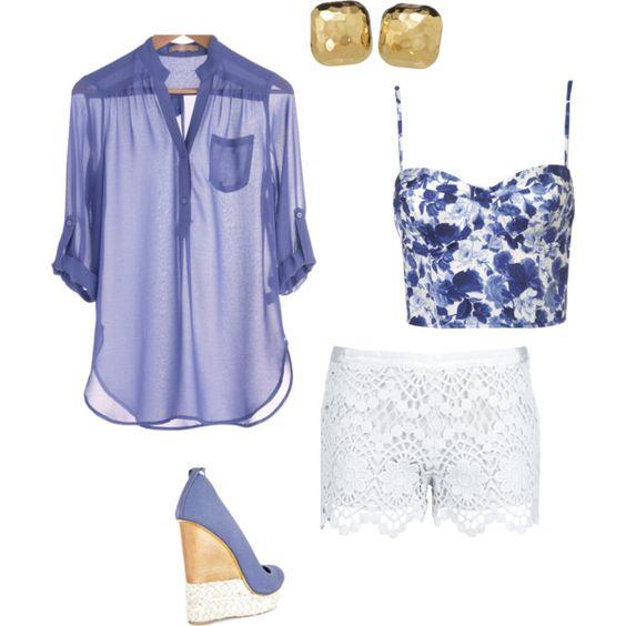 lace shorts, sheer shirt, corset, oh my
