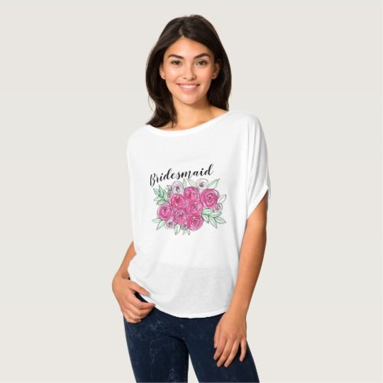 Bridesmaid Wedding Unique Beautiful Pink Rose Top