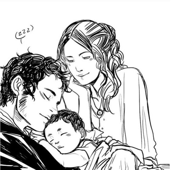 Wessa. Will Herondale, Tessa Herondale and James Herondale. The Infernal Devices #tid