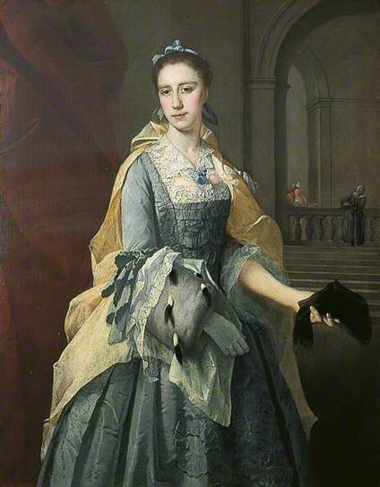 ▴ Artistic Accessories ▴ clothes, jewelry, hats in art - Barthélemy Du Pan | Catherine Havers, 1735: