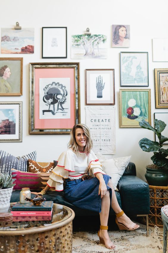 Dallas based small business owner brittany cobb is a rare for Eclectisch interieur