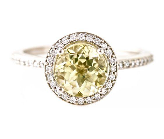 lemon quartz diamonds and engagement on