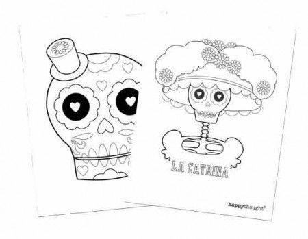 calavera catrina coloring pages - photo#14