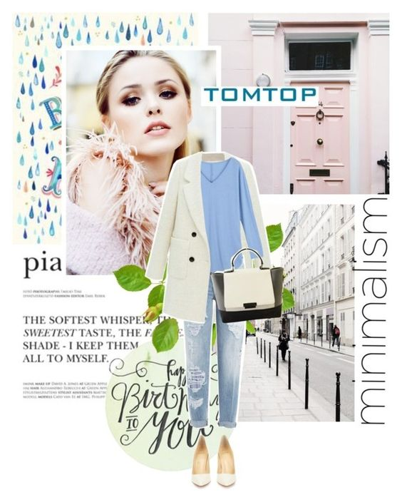 """Spring look with tomtop.com"" by sofia10-1 ❤ liked on Polyvore featuring Dsquared2, Christian Louboutin, tomtop and tomtopstyle"