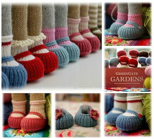 Knitting Pattern Dolls Shoes : Handmade Shoes Free PDF knitting pattern......http://www.maryjanest...