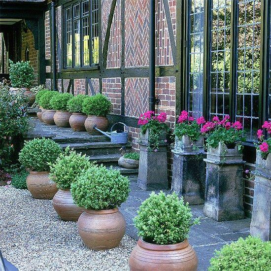 Formal Front Garden: Formal Garden With Box Balls