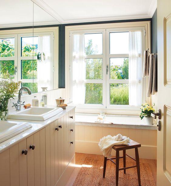 Baños pequeños con sitio para todo · ElMueble.com · Cocinas y ...