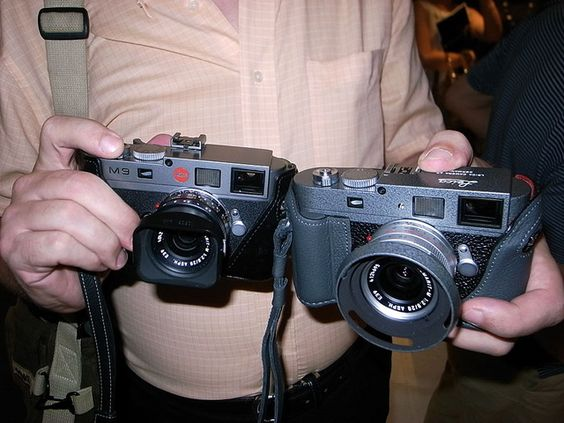 Two Leica M9s by tokyo camera style, via Flickr