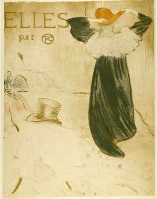 Henri de Toulouse-Lautrec (French). Frontispice Pour Elles. The University of Michigan Museum of Art, Michigan. Gift of Ruth W. and Clarence J. Boldt, Jr., 2008. http://www.umma.umich.edu