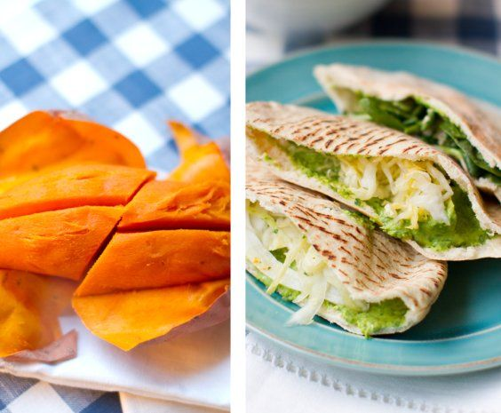 Spinach Avo Hummus Pitas, Sweet Potato. Easy Dinner! - Healthy. Happy. Life. #vegan