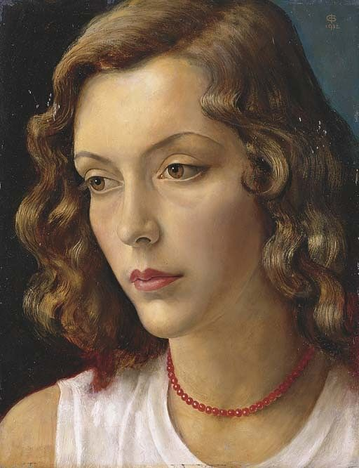 Imre Goth [Góth Imre] (1893-1982): Portrait of the Artist's Muse, 1932