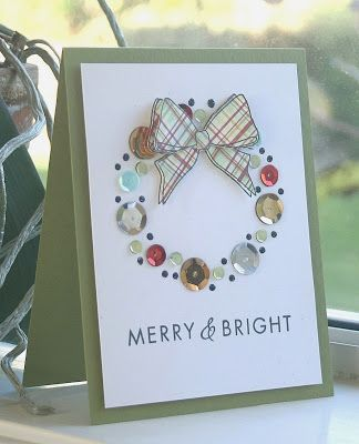 haven't jumped on the sequin bandwagon, but this card just might make me a believer!