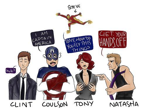 Avengers bodyswap- Clint is Coulson, Coulson is Steve ...