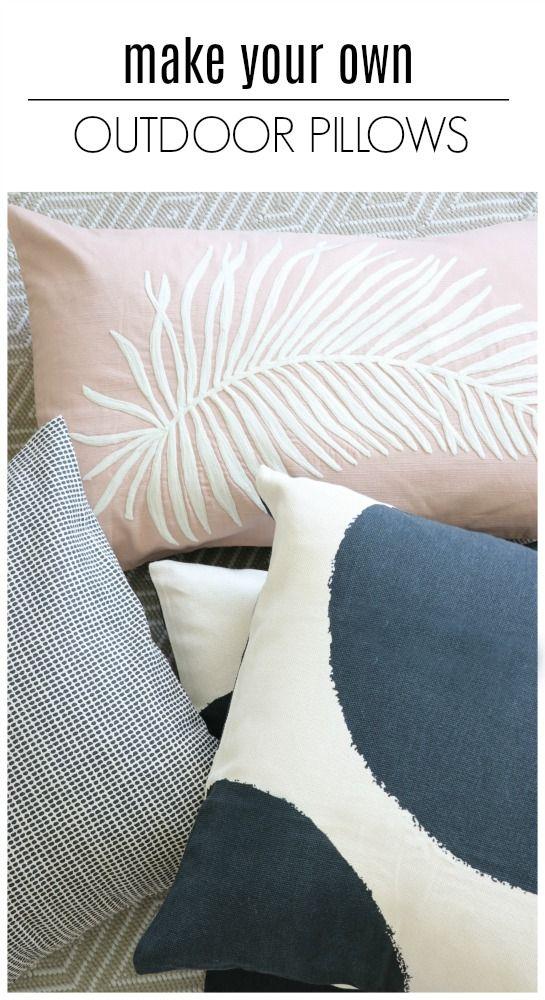 Outdoor Pillows Diy, Making Outdoor Throw Pillows