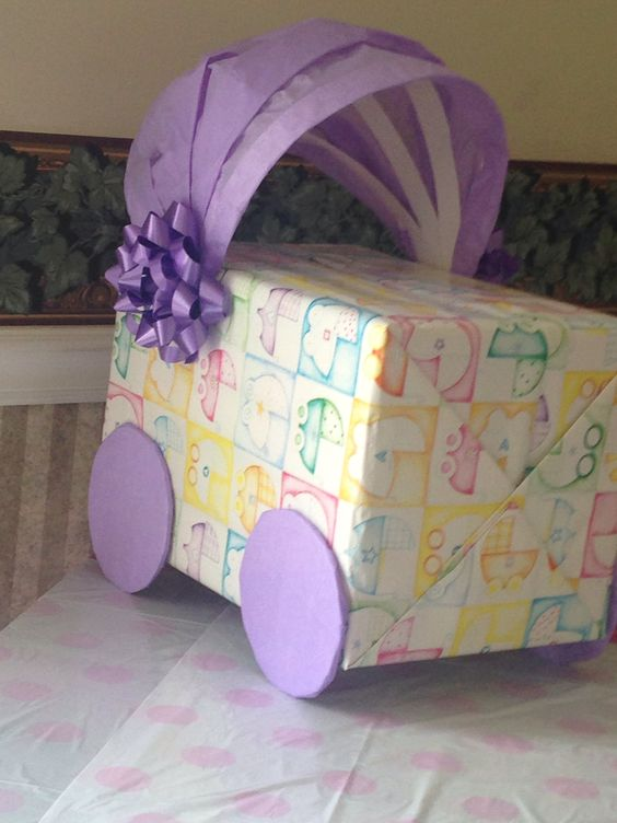Baby Gift Packing Ideas : Baby shower gift card box wrapping paper