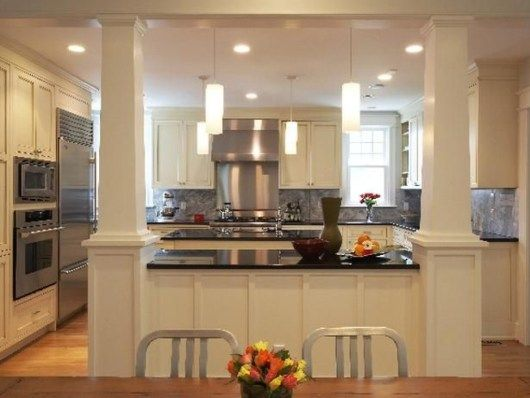 Combining Kitchen And Dining Room For Spacious Home Interior Decorating Colors Kitchen Remodel Dining Room Remodel Kitchen Renovation