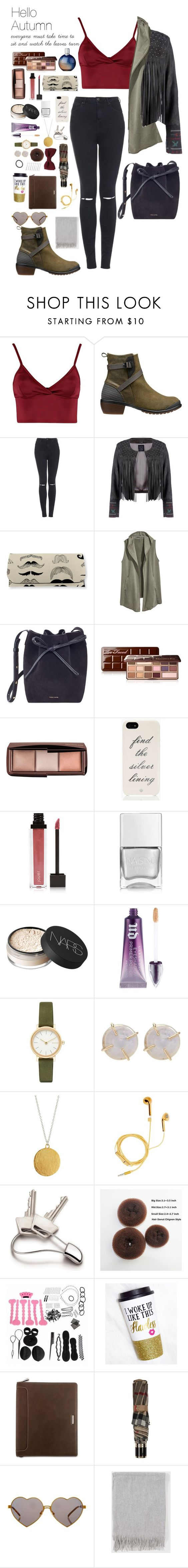 """Hello autumn"" by ugglorimossen ❤ liked on Polyvore featuring Lipsy, Keen Footwear, Topshop, H&M, Mansur Gavriel, Too Faced Cosmetics, Hourglass Cosmetics, Kate Spade, Jouer and Nails Inc."