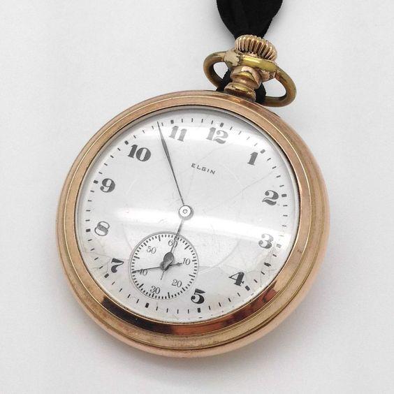 Elgin Gold-Filled 17-Jewel Pocket Watch, Circa 1920, Runs #Elgin