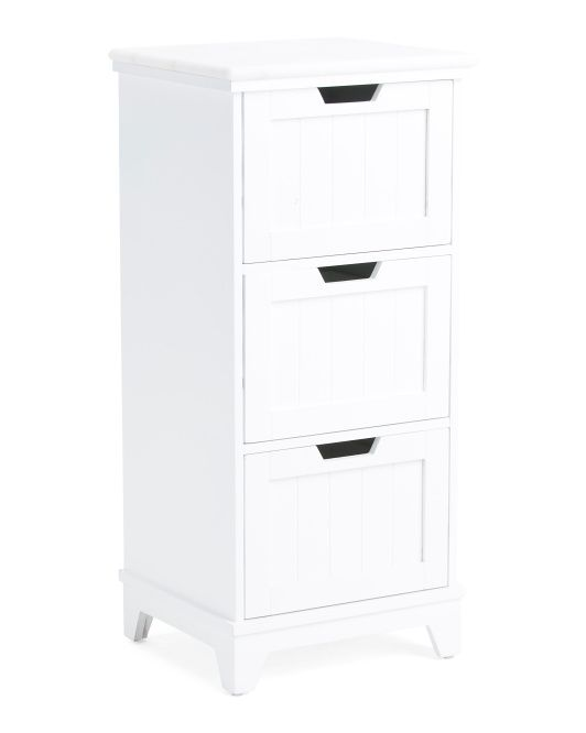 Premiere 3 Drawer Marble Top Bath Cabinet Bath Cabinets Drawers