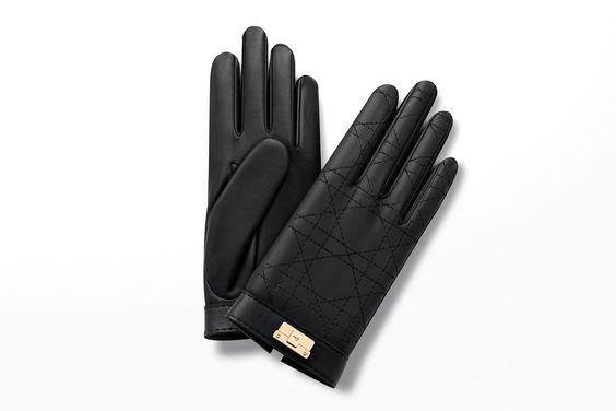 """""""diorling"""" kurze handschuhe aus schwarzem lammleder - Die accessoires Dior"""