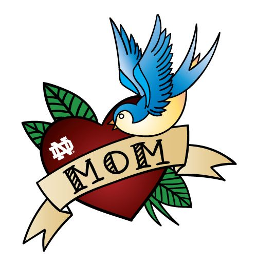 I Love Mom Tattoos | 2016 Mother's Day Event | #notredame